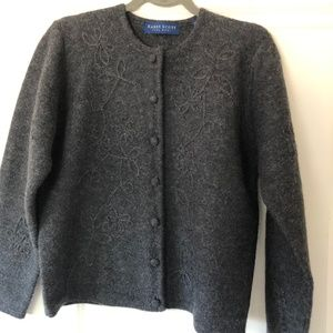 Wool sweater cardigan